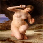 William Bouguereau (1825-1905)  Femme au Coquillage [Woman with Seashell]  Oil on canvas, 1885  Public collection